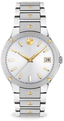 Movado SE Stainless Steel & White Sunray Watch