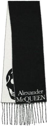 Alexander McQueen Skull wool-blend scarf