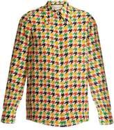 Gucci Hound's-tooth print silk shirt