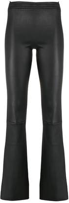 Drome leather flared trousers