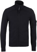 Cp Company Black Zip Through Watch Viewer Sweatshirt