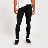Mens Black Ollie super skinny spray on jeans