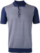Corneliani grid polo shirt