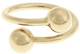J.W.Anderson Double-sphere gold-plated ring