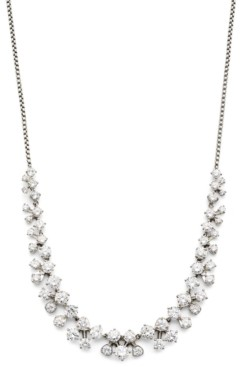 """Eliot Danori Silver-Tone Cubic Zirconia Cluster Statement Necklace, 15"""" + 3"""" extender, Created for Macy's"""