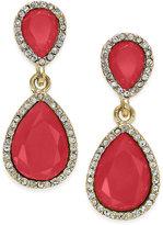 INC International Concepts Gold-Tone Stone Teardrop Drop Earrings, Created for Macy's