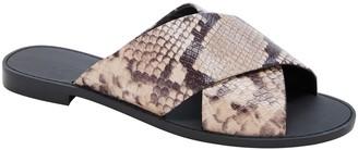 Banana Republic Leather Crossover Slide Sandal