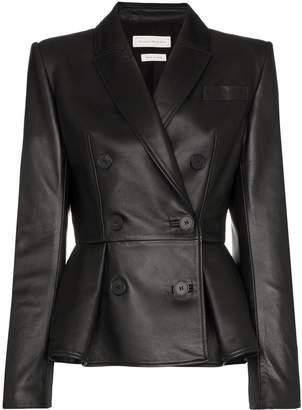 Alexander McQueen double-breasted peplum jacket