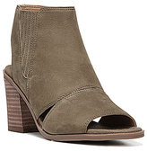 Franco Sarto Galaxy Morocco Leather Peep-Toe Cutout Detail Booties