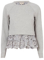 Sea Eyelet Sweatshirt