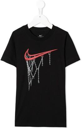 Nike Kids Sportswear logo print T-shirt