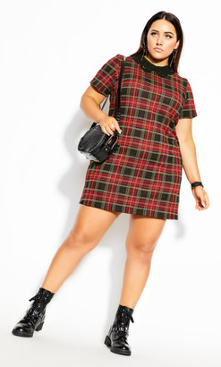 City Chic Love N Lace Dress - red