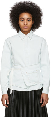 MM6 MAISON MARGIELA Off-White Denim Crossover Apron Shirt