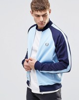 Fred Perry Track Jacket With Color Block In Blue