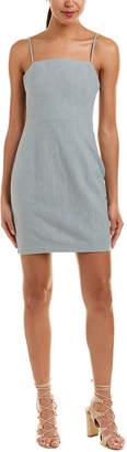 ASTR the Label Smocked Back Linen-Blend Mini Dress