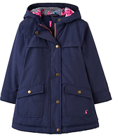 Joules Little Joule Girls' Parka Coat, French Navy