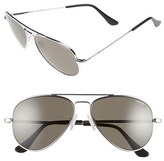 Randolph Engineering Men's 'Concorde' 57Mm Polarized Sunglasses - Chrome/ Grey Polarized
