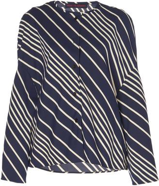 Martin Grant Oversized Striped Crepe Top