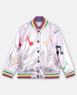 Stella Mccartney Kids Stella McCartney music notes alter nappa jacket
