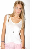 Sauce Star Stud Tank Tee in White