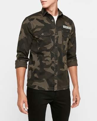 Express Camo Exp Military Shirt Jacket