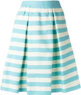 RED Valentino pleat detail striped skirt