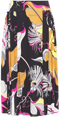 Emilio Pucci Printed Stretch-jersey Skirt