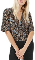 Topshop Women's Holly Bluebell Floral Shirt