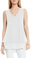 Vince Camuto Cotton Slub V-Neck Tank