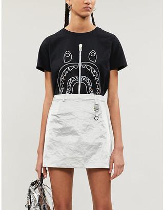 BAPE Hologram Shark graphic-print cotton-jersey T-shirt