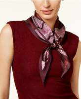 Echo Dotted Plaid Silk Diamond Scarf