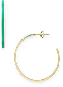 Argentovivo Montauk Enamel-Detail Skinny Hoop Earrings