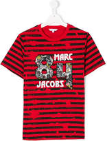Little Marc Jacobs 84 patch striped T-shirt