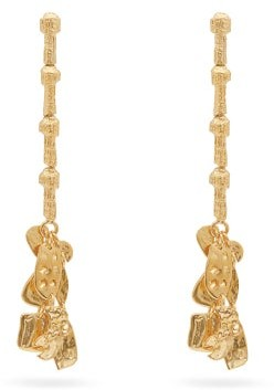 Givenchy Textured Drop Earrings - Womens - Gold