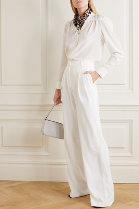 Paul & Joe Notting Hill Pleated Crepe Wide-leg Pants - Off-white