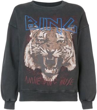 Anine Bing Logo Tiger Print Sweatshirt
