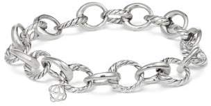 David Yurman Cable Collectibles Oval Link Charm Bracelet