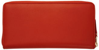 Comme des Garçons Wallets Orange Classic Continental Wallet