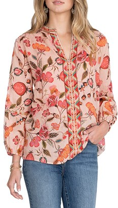 Johnny Was Paris Effortless Blouse (Multi A) Women's Clothing