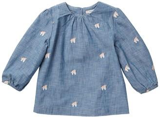 J.Crew Mia Unicorn Embroidered Chambray Top (Toddler & Big Girls)