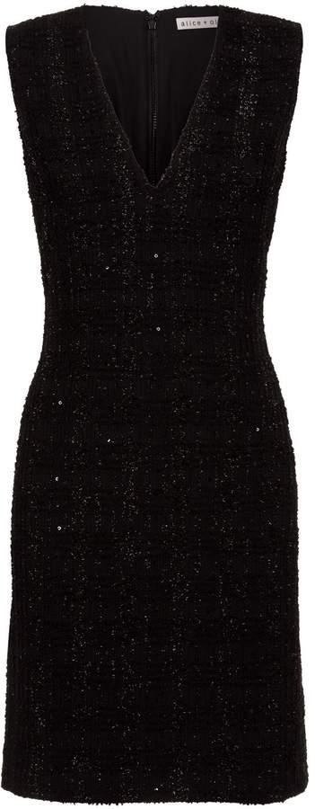Alice + Olivia Adelaide Tweed Fil Coupe Dress