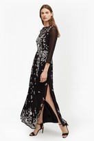 French Connection Midnight Garden Embroidered Maxi Dress
