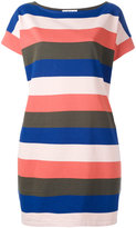 YMC striped T-shirt dress - women - Cotton - XS