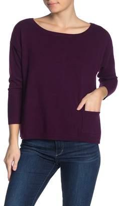 Kier & J Back Buttoned Cashmere Sweater