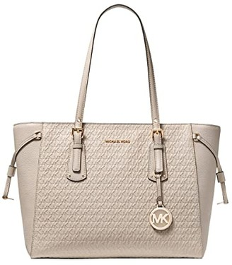 MICHAEL Michael Kors Voyager Medium Multi Function Top Zip Tote (Light Sand) Handbags