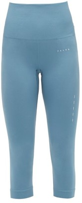 Falke Shape High-rise Cropped Jersey Leggings - Womens - Blue
