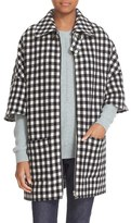 A.P.C. Women's 'Granville' Check Wool Blend Cape