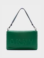 DKNY Neoprene Bonded Lamb Nappa Leather Shoulder Bag
