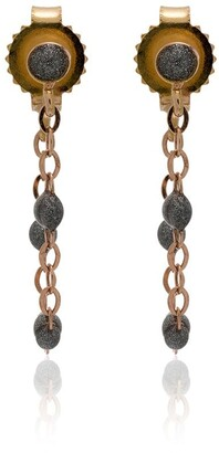 Gigi Clozeau 18k Rose Gold Silver Beaded Earrings