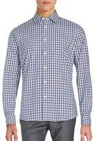 Slate & Stone Plaid Slim-Fit Cotton Sportshirt